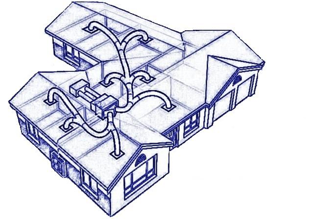 частный дом с вентиляцией